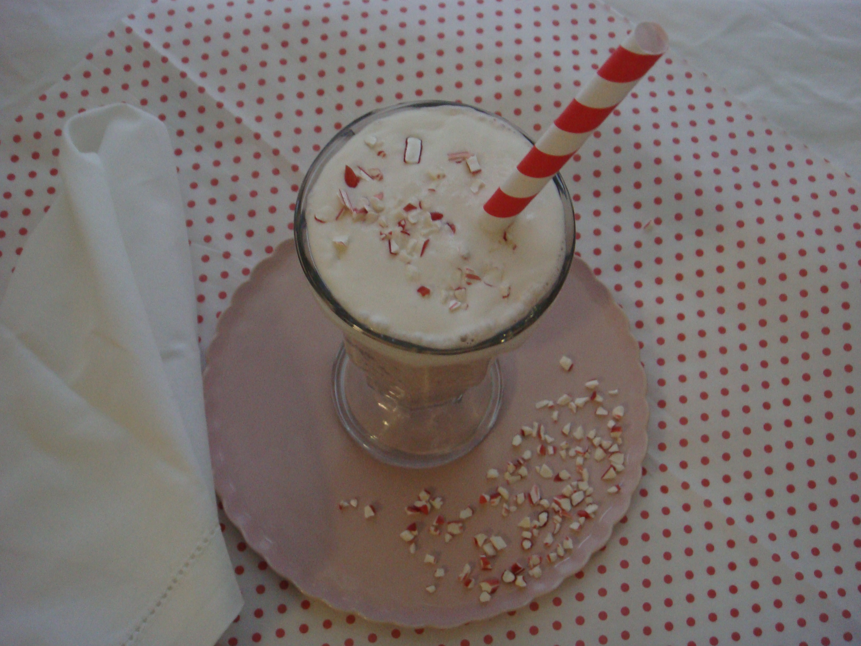 Peppermint Chocolate Chip Shake with whipped cream