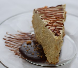 Peanut Butter Mousse Pie served with Really Fudgy Hot Fudge Sauce