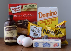 Chocolate Chip Cookie Bars - Ingredients