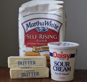 Butter Muffins ingredients